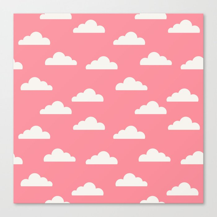 Clouds Pink Canvas Print