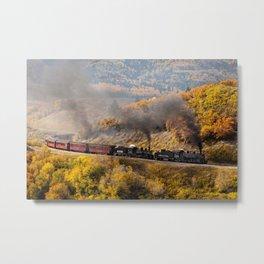 Steam Train, Cumbres & Toltec Railroad, New Mexico Metal Print