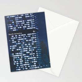 New York City Retro Travel Poster Stationery Cards