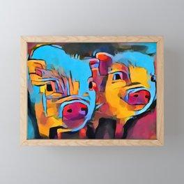 Piglets Framed Mini Art Print