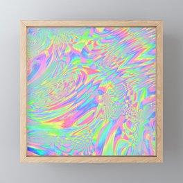 Rainbow Fuster Cluck Framed Mini Art Print