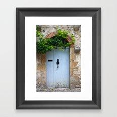 old door in France Framed Art Print