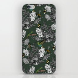 Hummingbirds and Bees (don't let them fade away) iPhone Skin