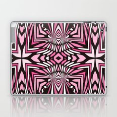 Pink Black and WHite Abstract Laptop & iPad Skin