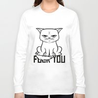 grumpy Long Sleeve T-shirts featuring Grumpy Grumpy by Navass