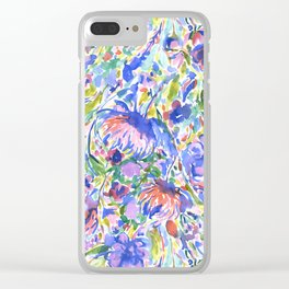 Maximal Floral Wild & Free Clear iPhone Case