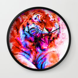 Cosmic Tiger Wall Clock