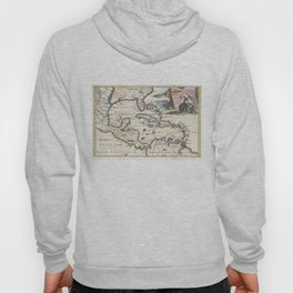 Vintage Map of The Caribbean (1747) Hoody