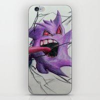 gengar iPhone & iPod Skins featuring Gengar by EzraTheMad