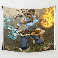 korra Wall Tapestries featuring The Legend Of Korra by Fran Agostinelli