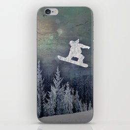 The Snowboarder iPhone Skin