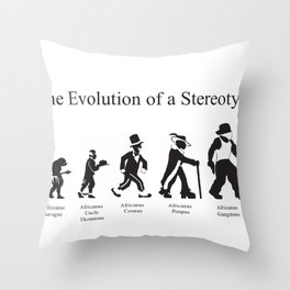 The Evolution of a Stereotype Throw Pillow