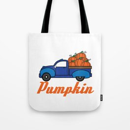The Cool and Awesome Halloween costume party idea Truck loaded with pumpkins Meet me at the Pumpkin. Tote Bag