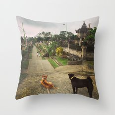 Waiting for Godot Throw Pillow