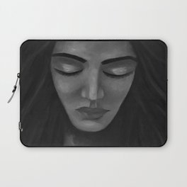 On My Mind by Lu, black-and-white Laptop Sleeve