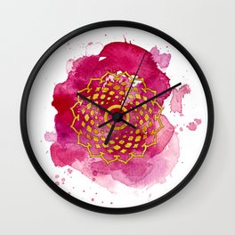 Crown Chakra Watercolour Painting Wall Clock