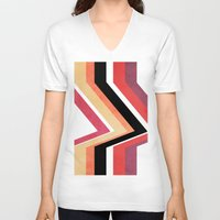 airplanes V-neck T-shirts featuring geometric   by mark ashkenazi