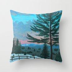 VT Cabin View Throw Pillow