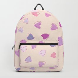 Love, Romance, Hearts - Blue Purple Pink Backpack