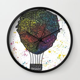 Colourful Hot Air Ballon Wall Clock