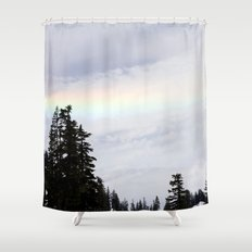 Mountaintop Rainbow Shower Curtain