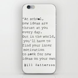 Bill Watterson quote iPhone Skin