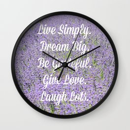 Live Simply. Wall Clock