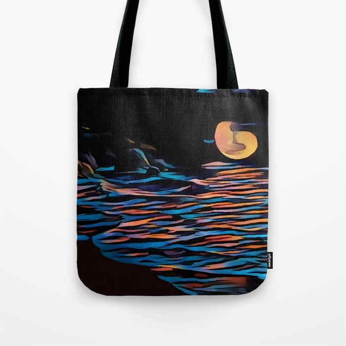 Moon over Beach Tote Bag