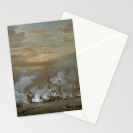 Willem van de Velde the Younger - The Battle of the Texel, 11-21 August 1673 Stationery Cards
