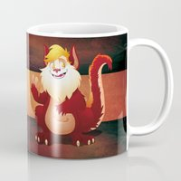 thundercats Mugs featuring tribute to SNARF-from THUNDERCATS-circle by JG-OBERON