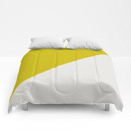 Ogre Yellow & Light Grey - oblique Comforters