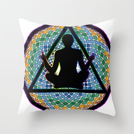 Meditate on this Throw Pillow