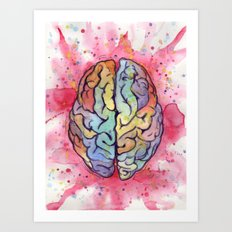 brain stuff Art Print