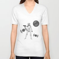 storm trooper V-neck T-shirts featuring storm trooper by Agentsassy