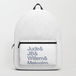 Jude & JB & Willem & Malcolm. Backpack