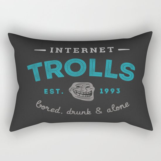 The Scourge of the Internet Rectangular Pillow