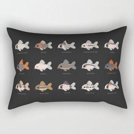 Corydoras! - black Rectangular Pillow