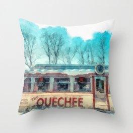 The Quechee Diner Throw Pillow