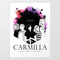 carmilla Art Prints featuring Carmilla by Kimberley Fahey