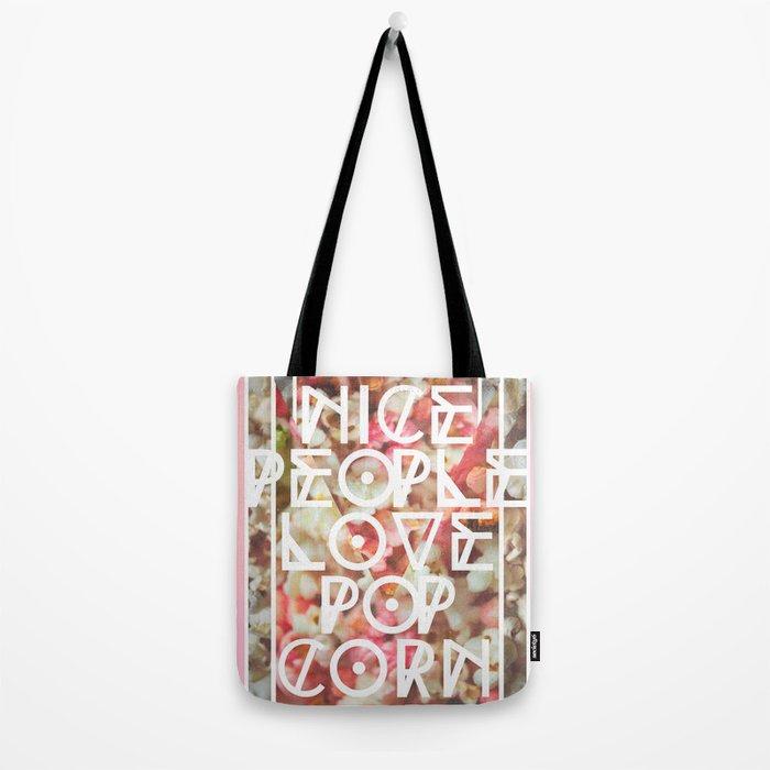 Nice People Love Popcorn Tote Bag