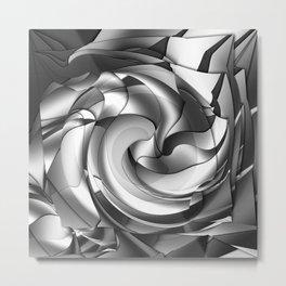Black, grey, white abstract Metal Print