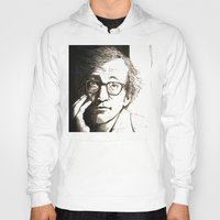 woody allen Hoodies featuring Woody Allen by Frances Roughton