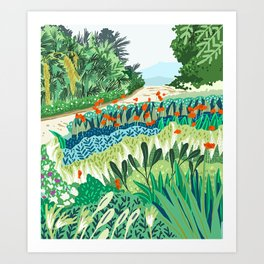 Solo Walk #illustration #nature Art Print