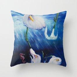Explorers Of The Deep Throw Pillow