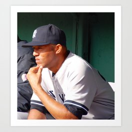 Mariano Rivera in the Fenway Park bullpen Art Print