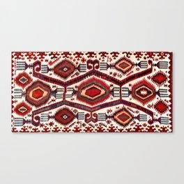 Konya Antique Turkish Kilim Canvas Print