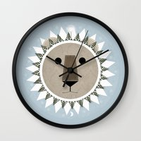 narnia Wall Clocks featuring The Lion, the Witch and the Wardrobe by Rowan Stocks-Moore