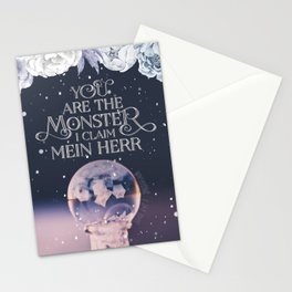 Wintersong - You are the monster I claim Stationery Cards