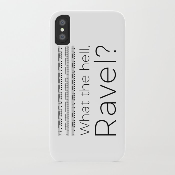 What the hell, Ravel? iPhone Case
