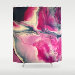 Stella - Original Abstract Painting Shower Curtain